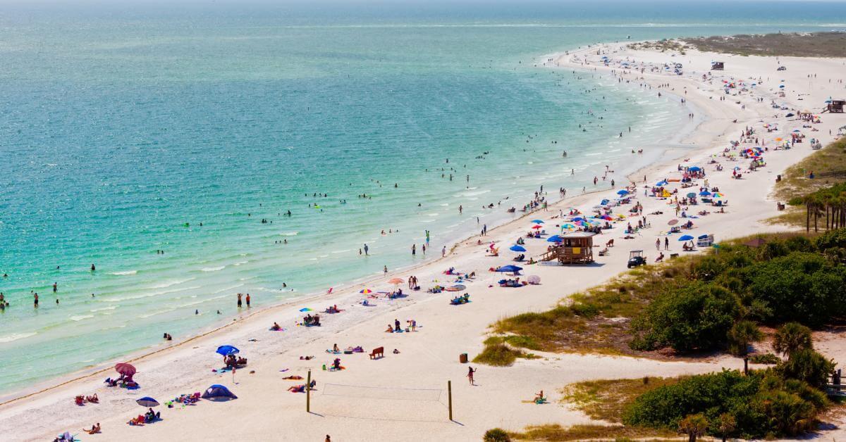 Pontos turísticos em Sarasota: praia Lido Key Beach