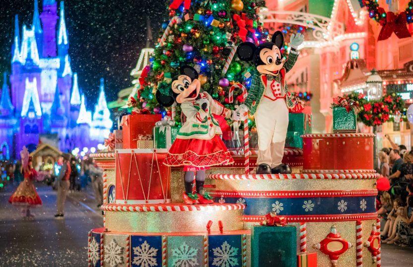 Mickey's Very Merry Christmas Party na Disney Orlando em 2019: Mickey e Minnie