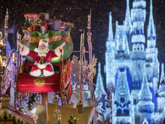 Mickey's Very Merry Christmas Party no Disney Magic Kingdom: Papai Noel