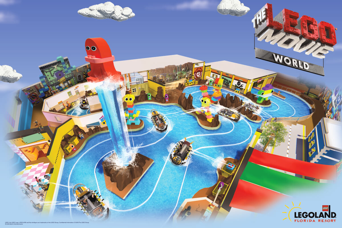 The Lego Movie World na LEGOLAND em Orlando: atrações