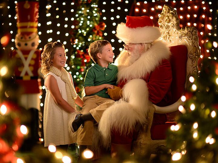 Onde encontrar o Papai Noel na Disney Orlando: Papai Noel na Disney Springs