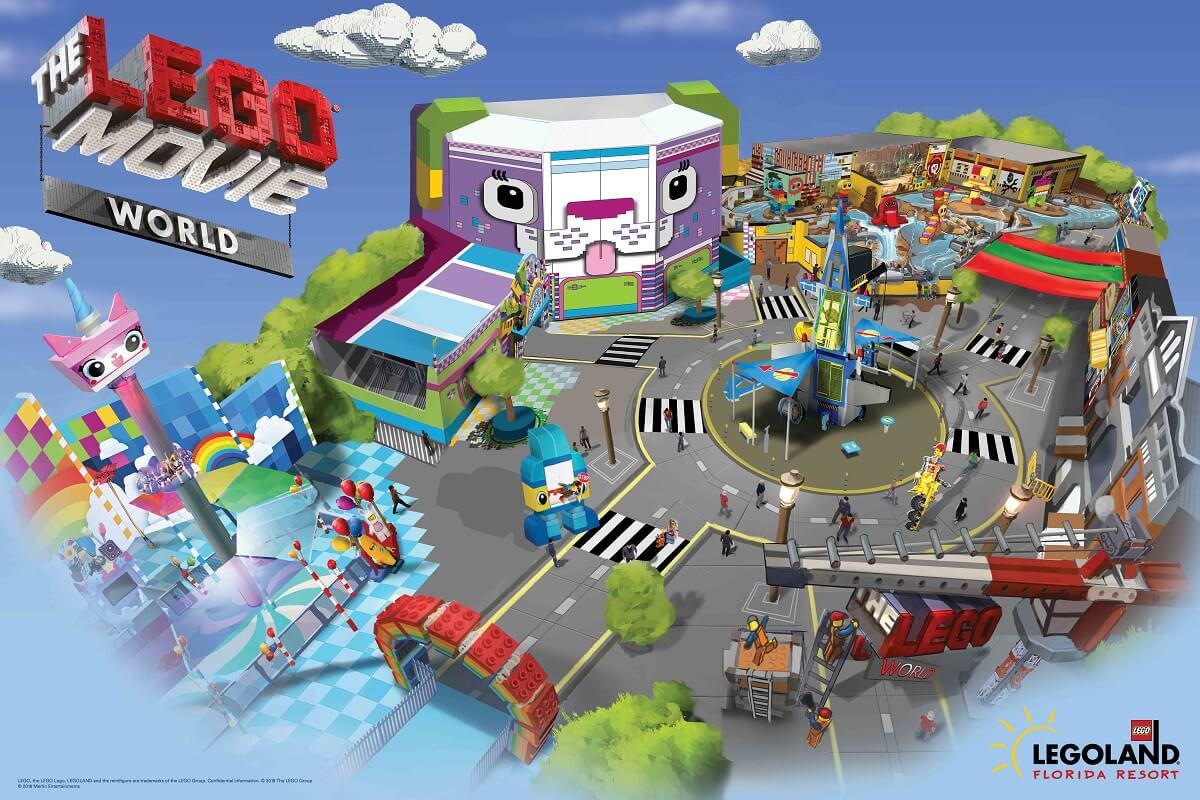 The Lego Movie World na LEGOLAND em Orlando
