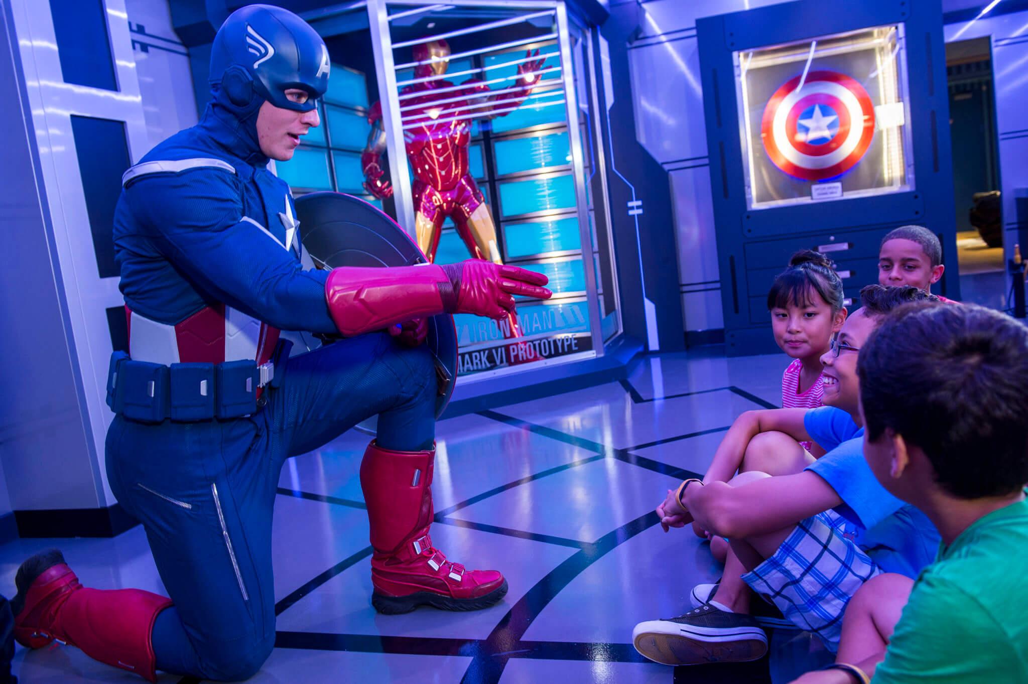 Cruzeiro Marvel Day at Sea da Disney Cruise Line em 2021: Capitão América