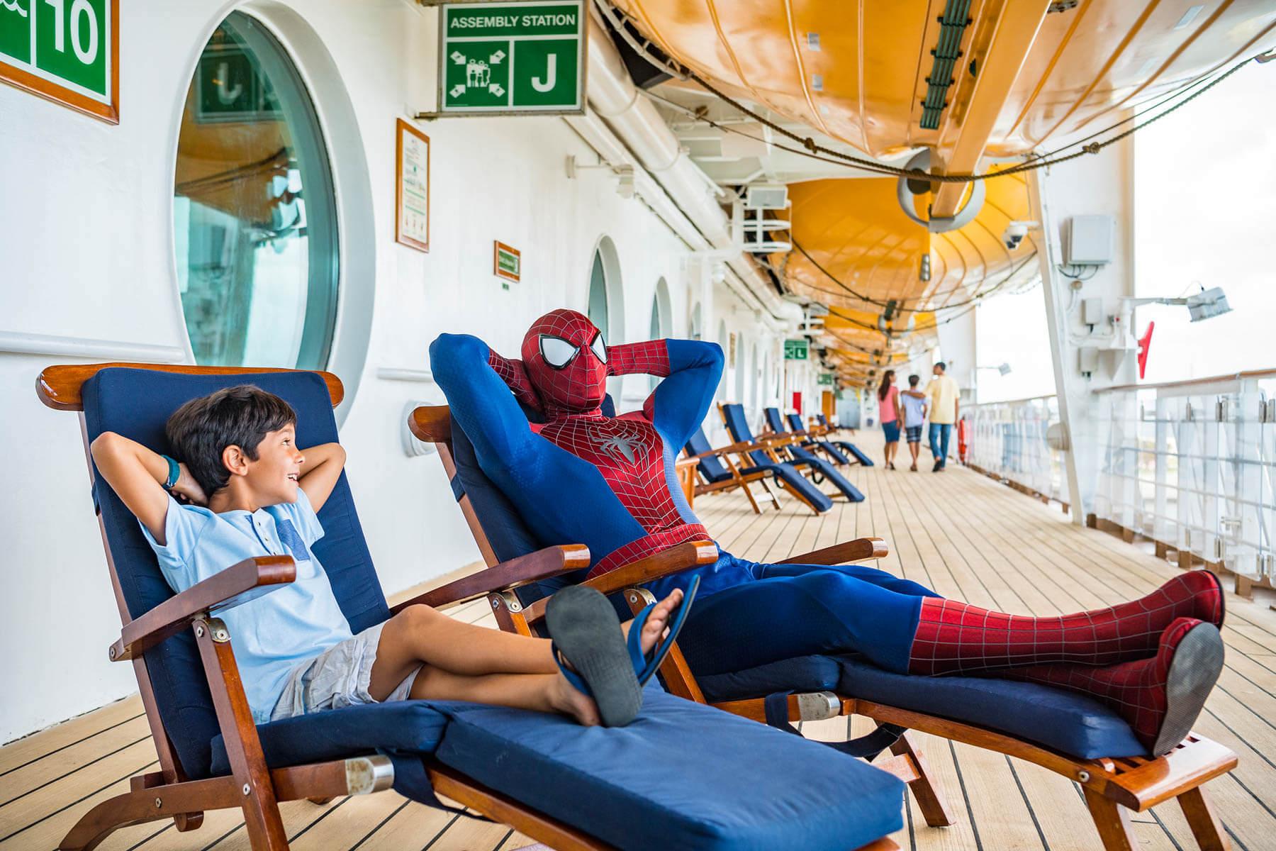 Cruzeiro Marvel Day at Sea da Disney Cruise Line em 2021: Homem-Aranha