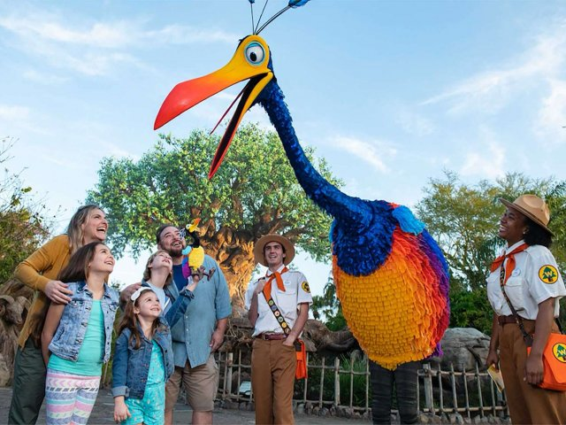 "Encontre Kevin de ""Up! Altas Aventuras"" no Disney's Animal Kingdom em Orlando"