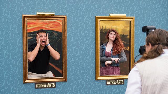 Epcot International Festival of the Arts na Disney Orlando: mural de fotos