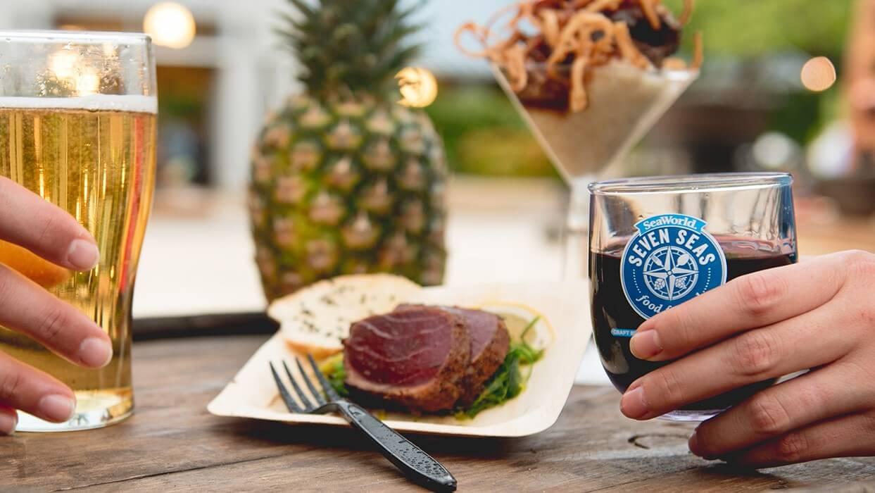 Parque SeaWorld em Orlando: festival Seven Seas Food
