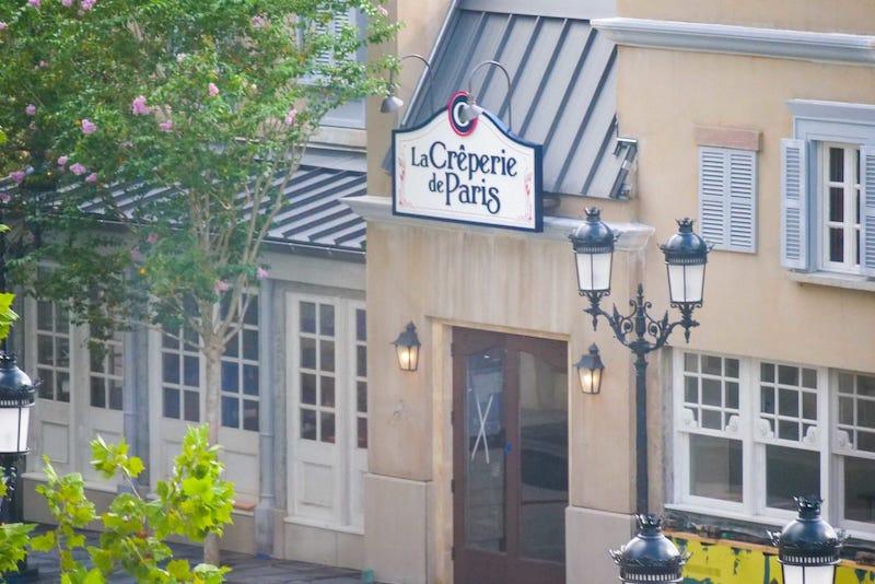 Visão de La Crêperie de Paris no Epcot da Disney Orlando
