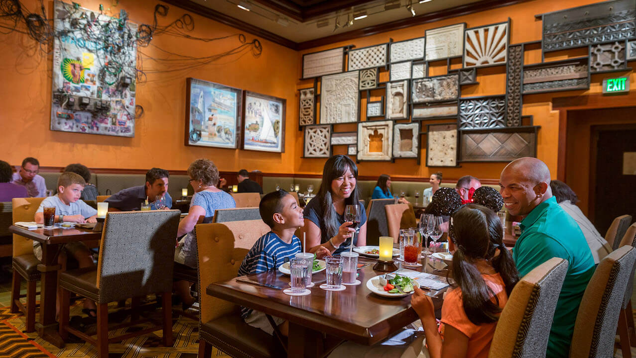 Party for the Planet no Animal Kingdom da Disney Orlando em 2019: Restaurante Tiffins