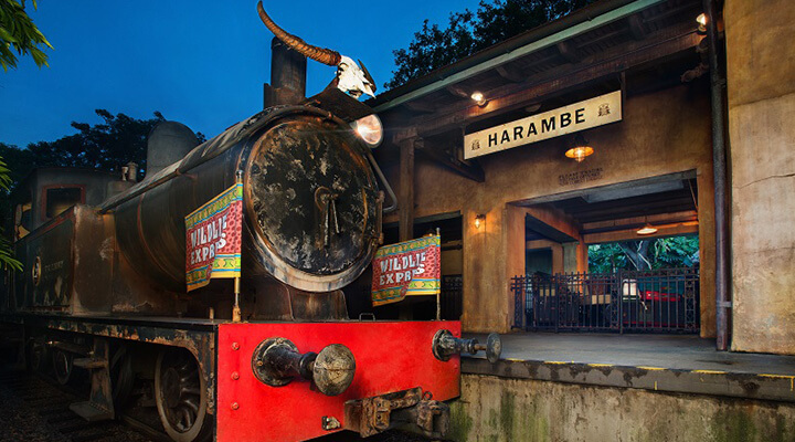 Circle of Flavors: Harambe at Night no Animal Kingdom da Disney Orlando: Wildlife Express Train Station