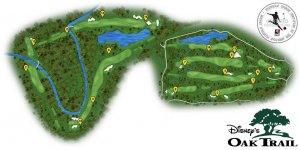 Disney's Oak Trail Golf em Orlando: mapa
