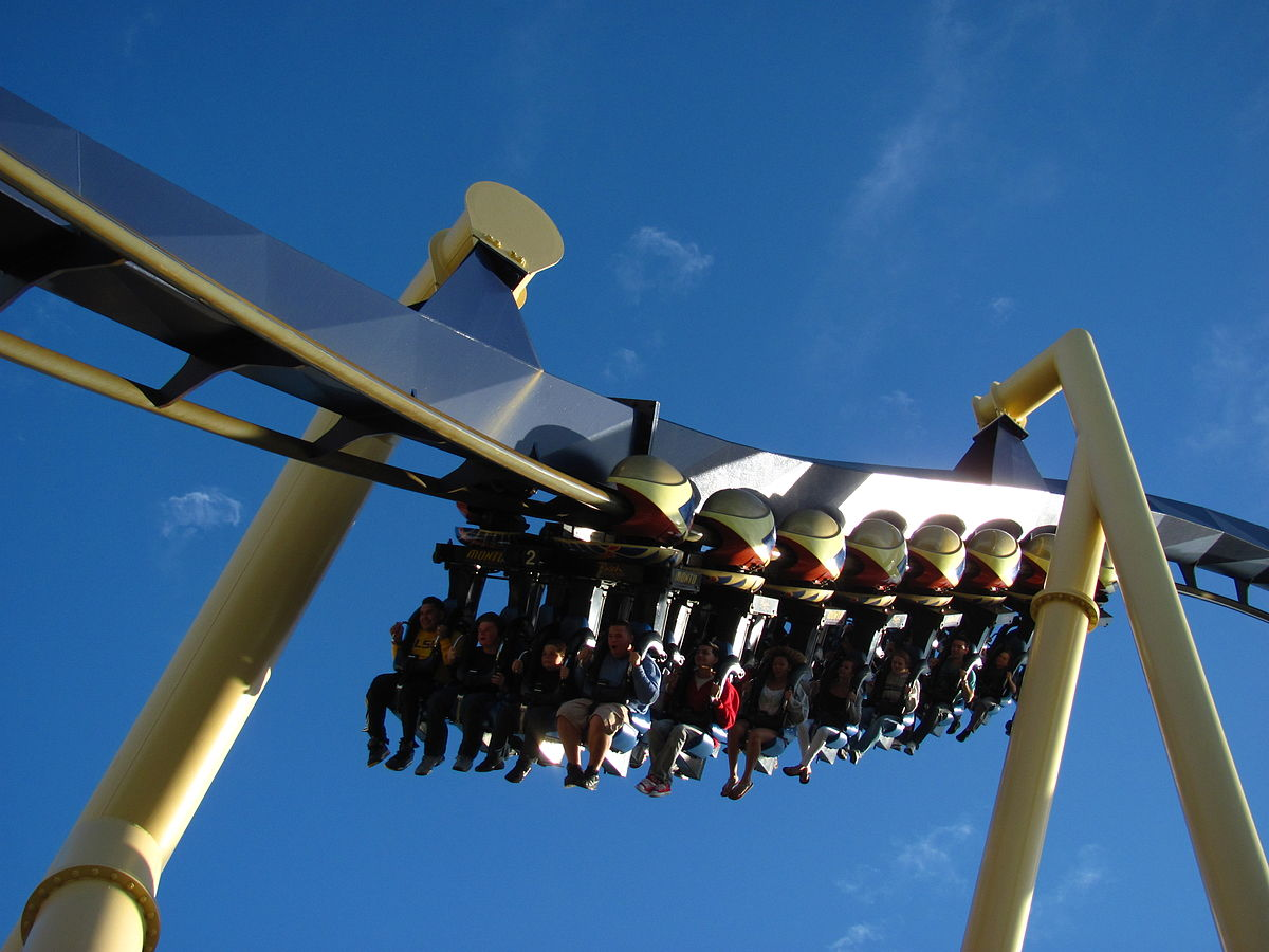 Parque Busch Gardens em Tampa: montanha-russa Montu