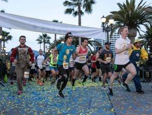 Corrida com personagens na Universal Orlando: corredores
