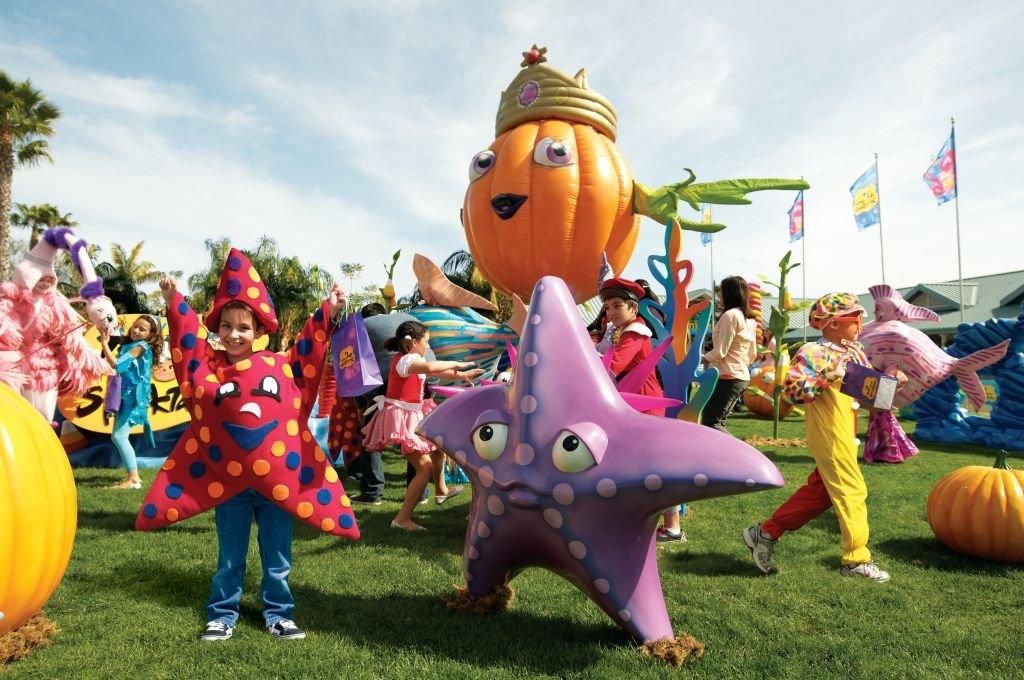 Halloween do SeaWorld Orlando: crianças