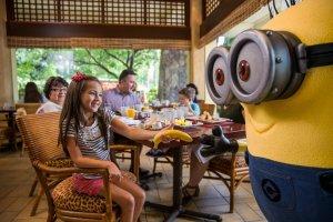 Café da manhã com os Minions na Universal Orlando: personagens de Meu Malvado Favorito