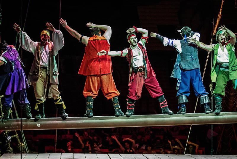Jantar e show Pirate's Dinner Adventure em Orlando: espetáculo