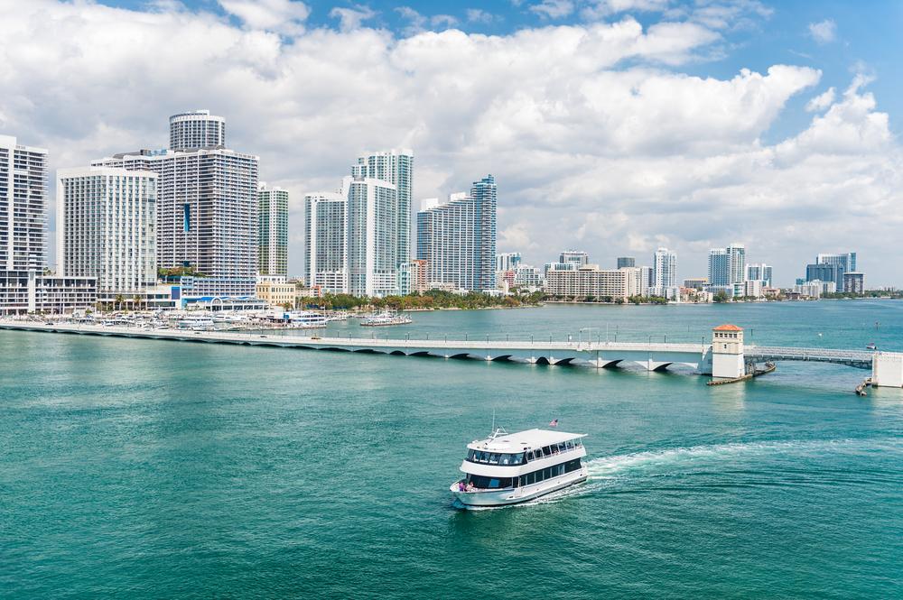 Passeio de barco em Miami