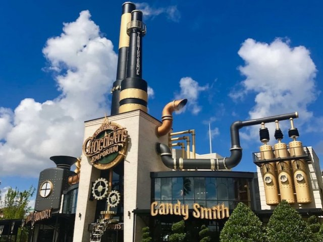 Toothsome Chocolate Emporium & Savory Feast Kitchen na Universal Orlando