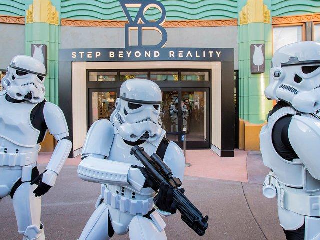 Simulador de realidade virtual de Star Wars em Orlando