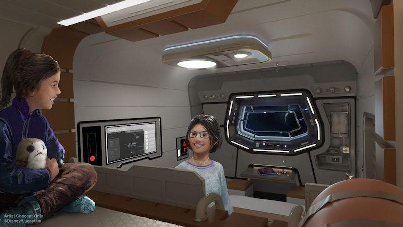 Hotel Star Wars: Galactic Starcruiser na Disney Orlando: cabines dos hóspedes