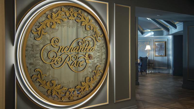 Lounge da Bela e a Fera no Disney's Grand Floridian em Orlando: entrada do Enchanted Rose