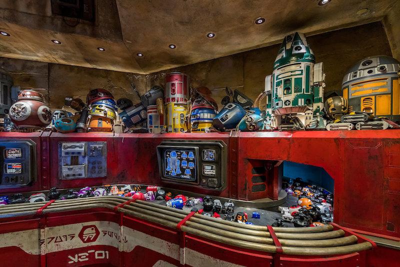 Droid Depot na Star Wars Land da Disney Orlando: fábrica