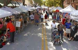 Lakeland na Flórida: feira Downtown Farmers Curb Market