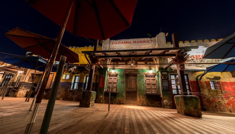 Circle of Flavors: Harambe at Night na Disney Orlando em 2019: interior do Harambe Market