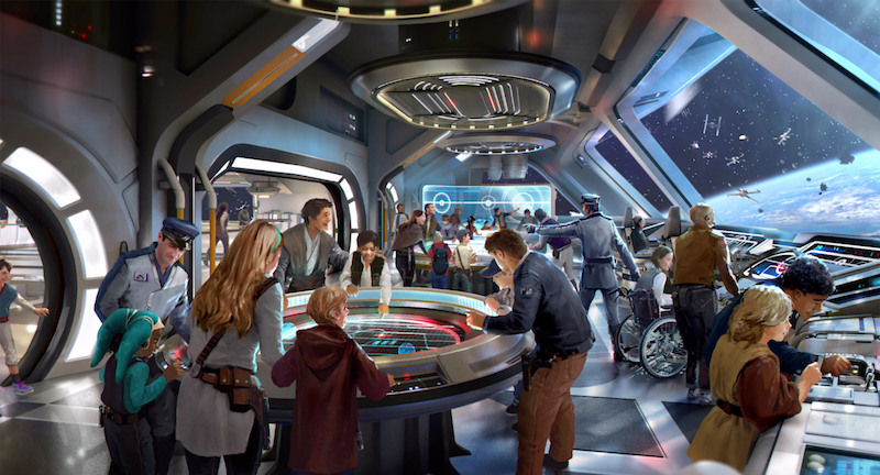 Hotel Star Wars: Galactic Starcruiser na Disney Orlando: interior do hotel