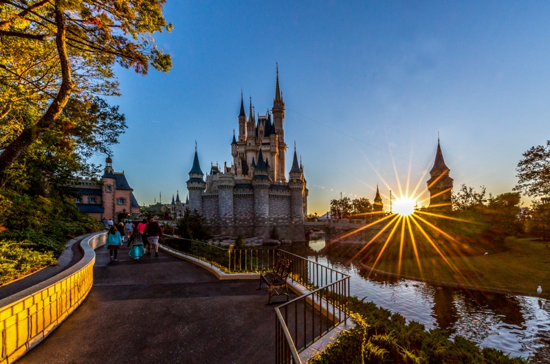 Castelo da Cinderela no parque Magic Kingdom da Disney Orlando
