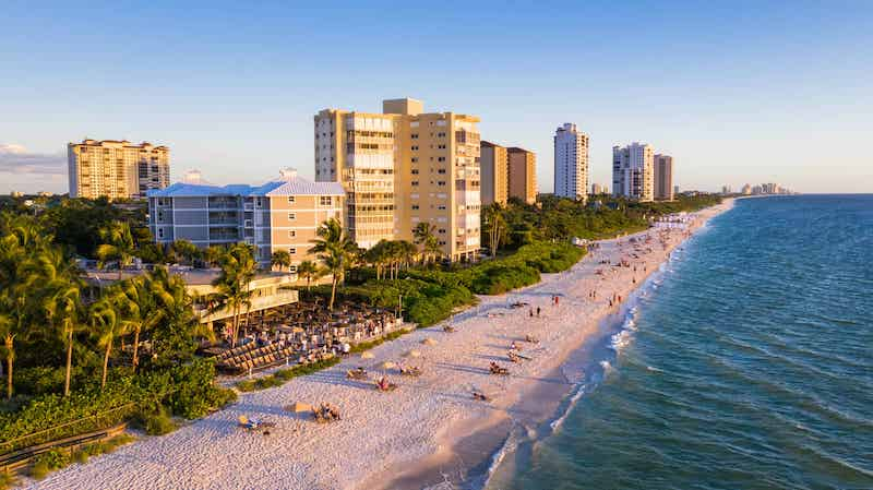 Praias em Naples: Vanderbilt Beach