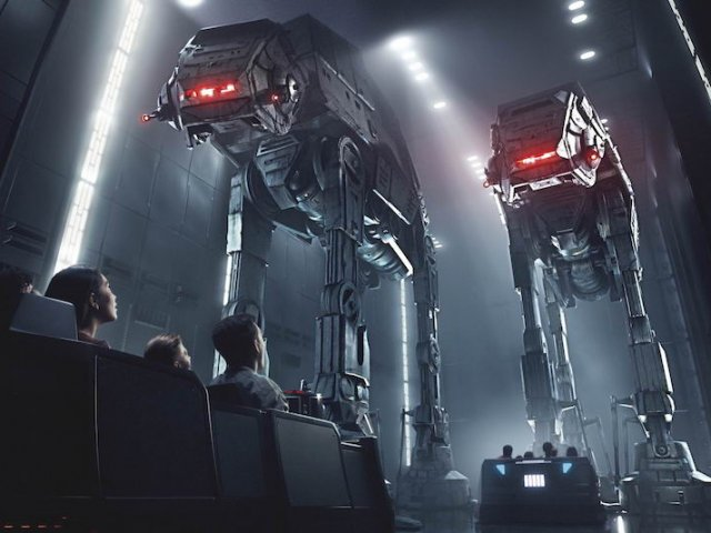 Fila virtual da Star Wars: Rise of the Resistance na Disney Orlando