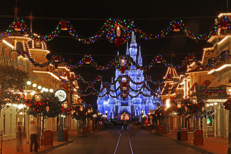 Natal no parque Magic Kingdom da Disney Orlando