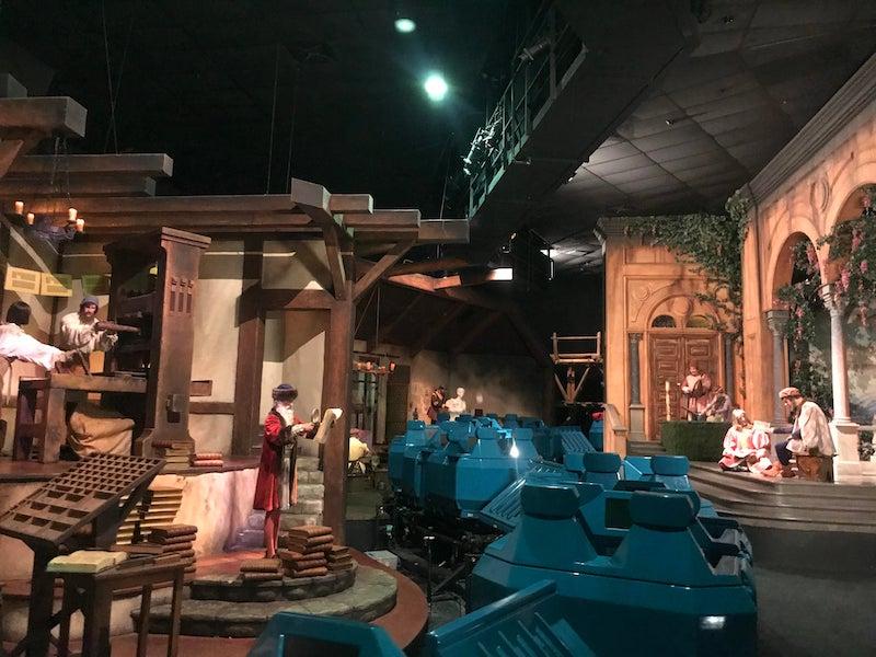 Spaceship Earth no Epcot da Disney Orlando: interior da atração