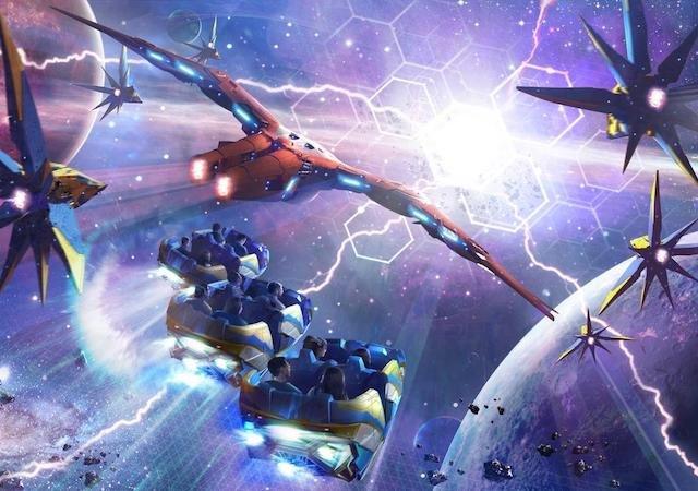 Montanha-russa de Guardiões da Galáxia no Epcot da Disney Orlando
