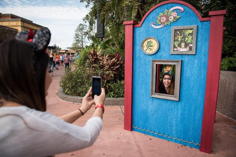 Mural de fotos no Epcot International Festival of the Arts na Disney Orlando