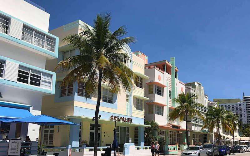 Art Deco District em Miami: Ocean Drive