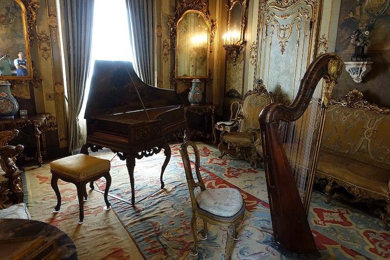 Vizcaya Museum and Gardens em Miami: sala de música