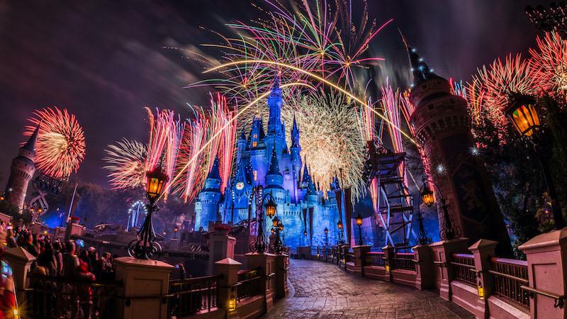 Assista à transmissão ao vivo do show de fogos de Ano Novo da Disney Orlando: Castelo da Cinderela