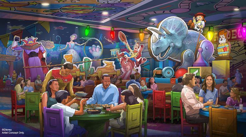 Restaurante Roundup Rodeo BBQ no Hollywood Studios da Disney Orlando: interior