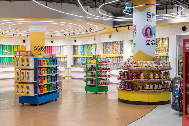 Loja M&M's na Disney Springs em Orlando: doces