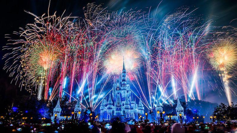 Show de fogos de Ano Novo da Disney Orlando