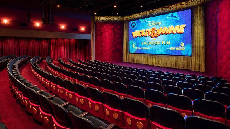 Interior do Mickey Shorts Theater no Hollywood Studios da Disney Orlando