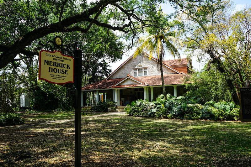 Merrick House em Coral Gables: entrada da casa