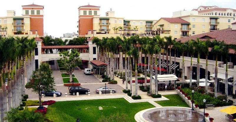 Shopping Village of Merrick Park em Coral Gables: estacionamento