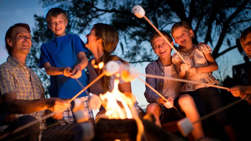 Coisas para fazer de graça na Disney Orlando: fogueira nos hotéis da Disney