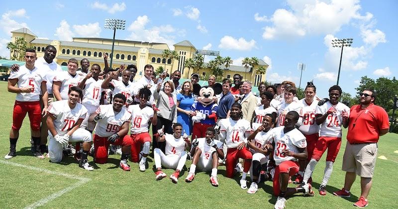 Evento NFL Pro Bowl Week 2020 na Disney Orlando: jogadores de futebol americano
