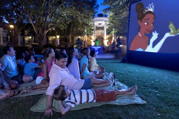 Coisas para fazer de graça na Disney Orlando: Movies Under the Stars nos hotéis da Disney