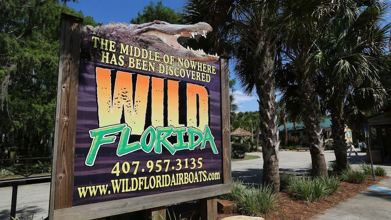 Parque Wild Florida Airboats & Gator: placa de entrada