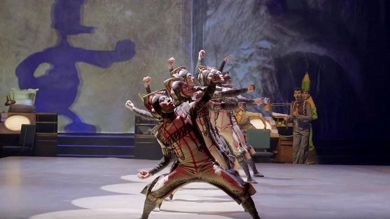 Novidades em Orlando em 2020: bailarinos do espetáculo Drawn to Life do Cirque du Soleil